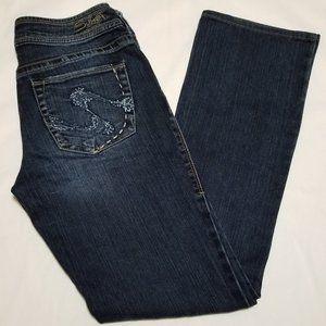Silver Julia Dark Wash Mid Rise Bootcut Jeans